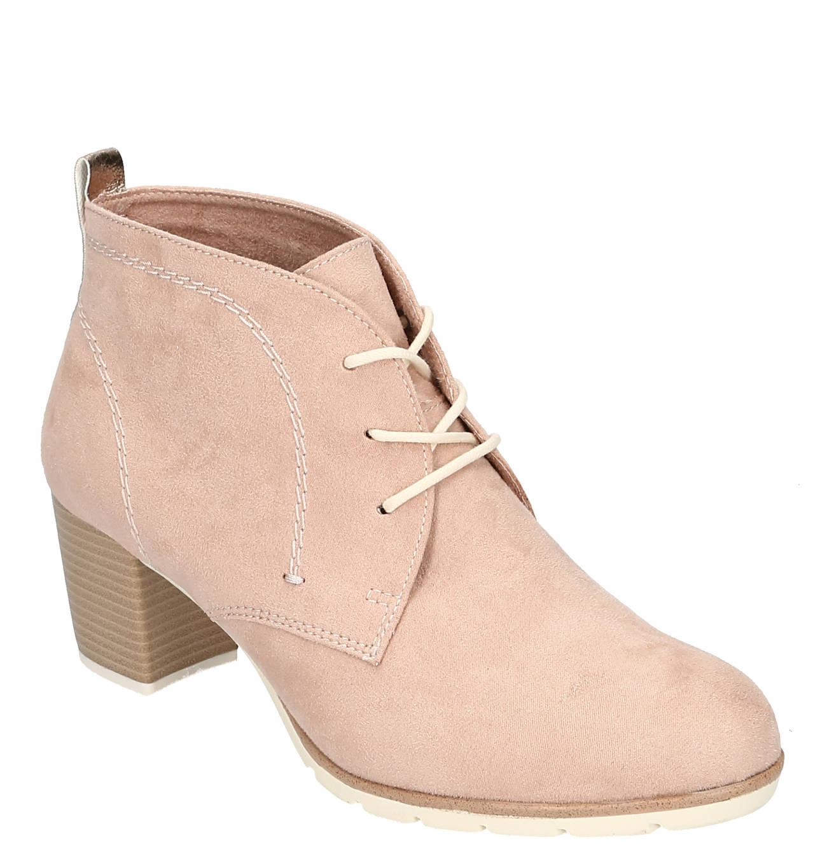 Ankle Boots, Lederimitat, Schnürung, Blockabsatz | Stiefel