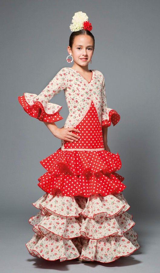 Traje de flamenca modelo Melodía. Traje de flamenca modelo Melodía Vestido  ... 0cff1b34955