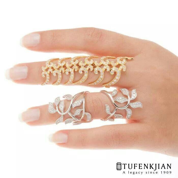 10K Gold Amazingly Beautiful White Diamond Twist Infinity Design Stylish Ring