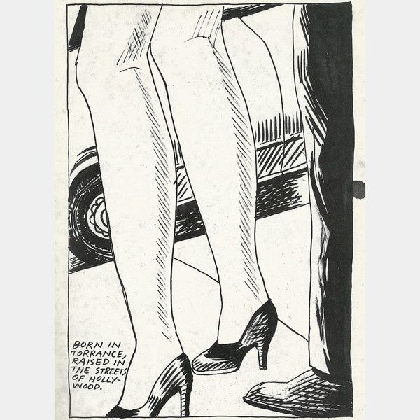 No Title (Born in Torrance…)1985 Raymond Pettibon