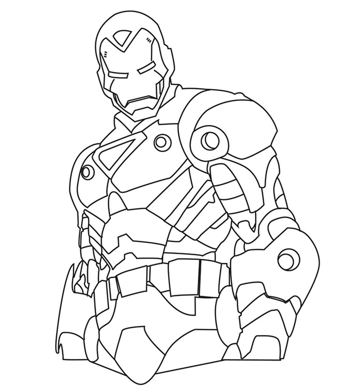 Nice Coloring Page Iron Man that you must know, You're in