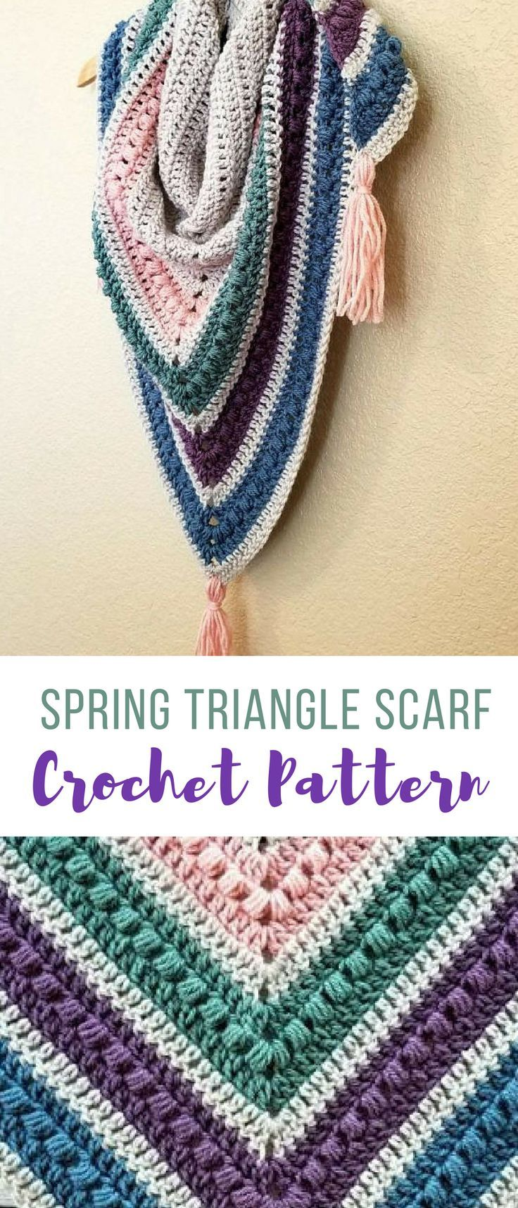 Easy to follow crochet pattern spring shawl scarf pattern by Hooked ...