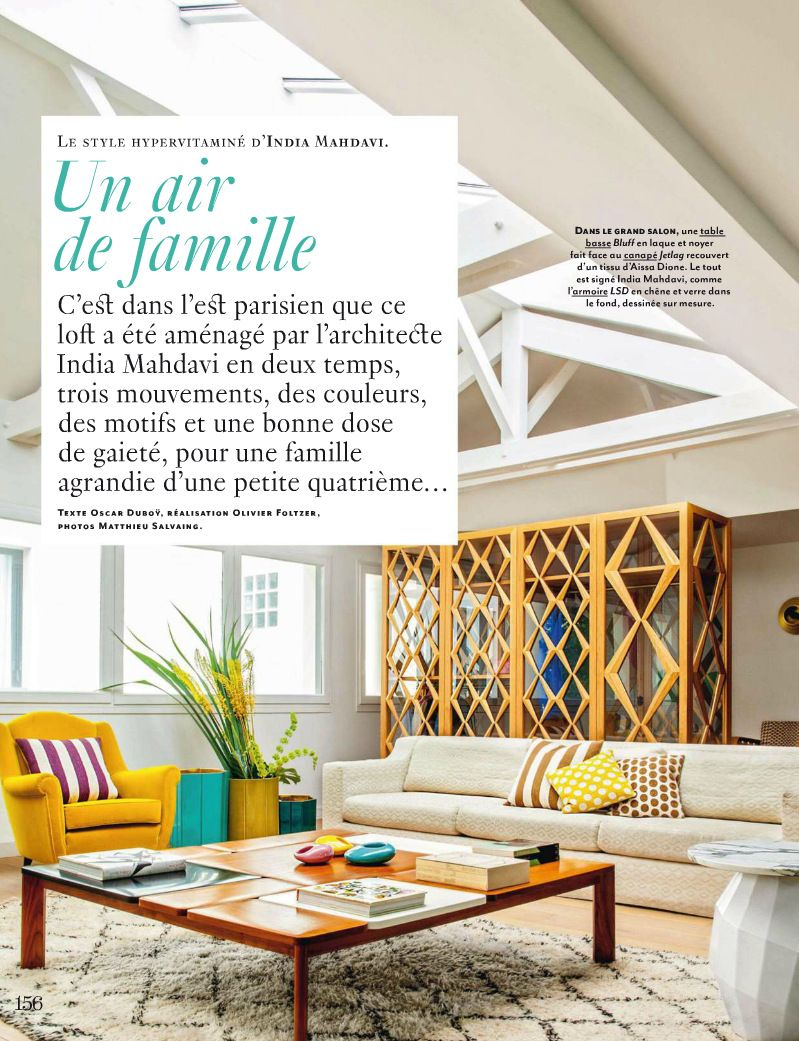 Eclectic Style Living Room With Daffodil Yellow Accents Featured In Elle  Decor France