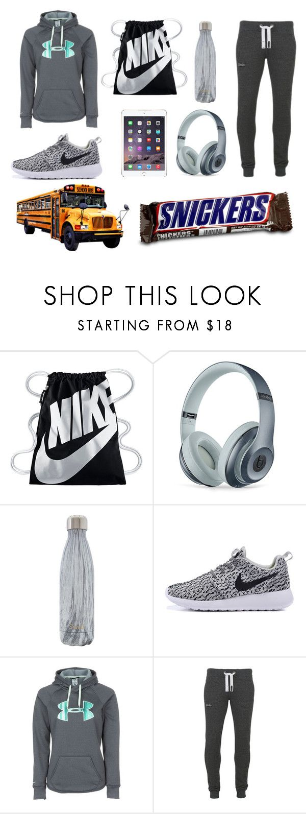 """""""Field Trip"""" by claire-kiolbasa ❤ liked on Polyvore featuring NIKE, Beats by Dr. Dre, S'well, Under Armour and Superdry"""