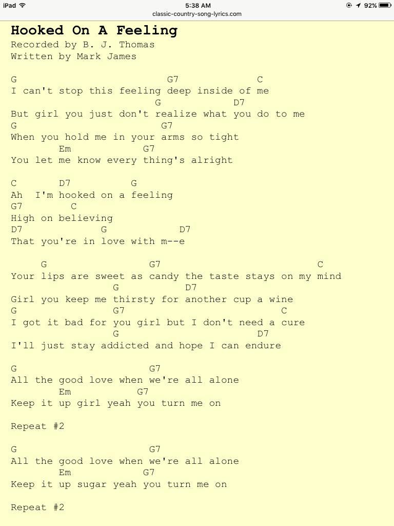 hook up a Feeling Songtekst grappige dingen om te schrijven op een dating profiel