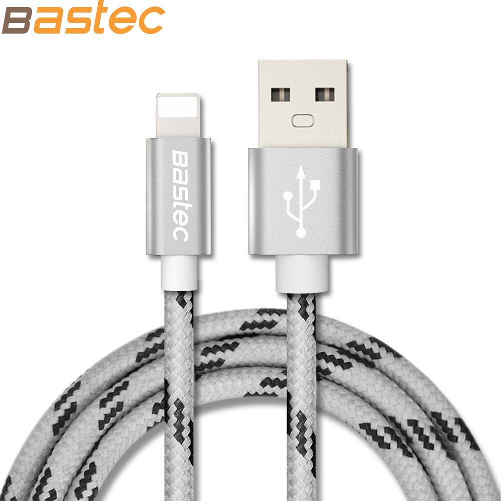 For iPhone 7 6 , TOPK 8 Pin Metal Braided Wire Sync Data Charger USB ...