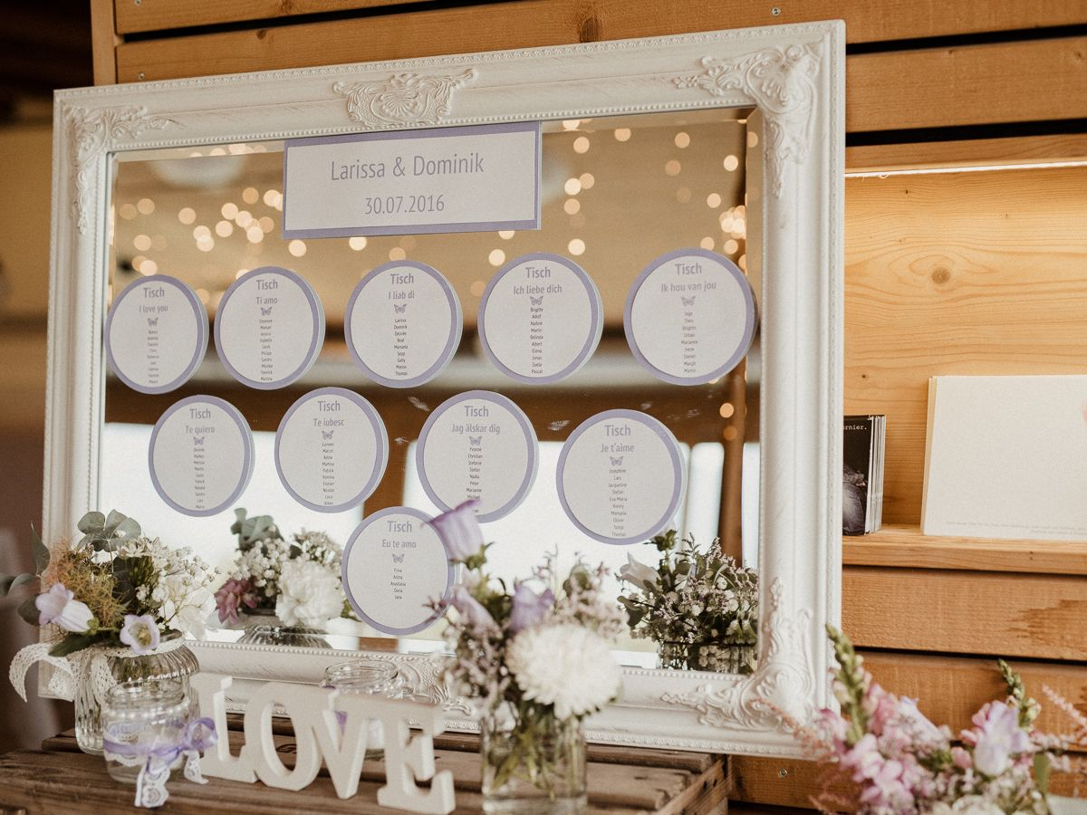 seating chart wedding sitzplan hochzeit spiegel. Black Bedroom Furniture Sets. Home Design Ideas