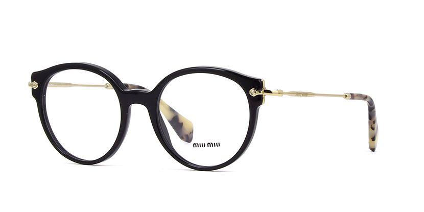 98e6163f143c Miu Miu MU 04PV 1AB1O1 Black Glasses