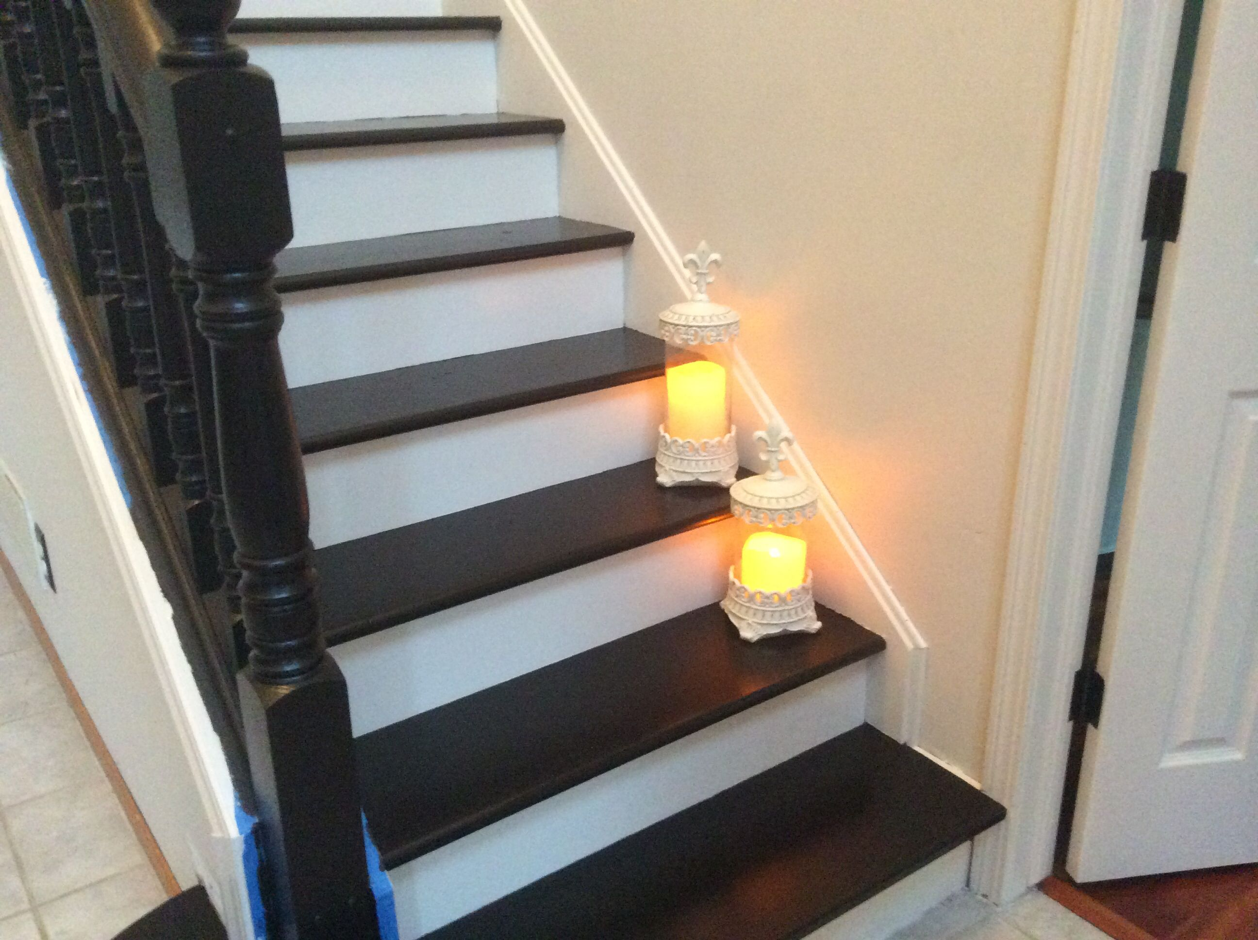 Armadio Per Ufficio Java : My stair redo with general finish java gel stain still need to