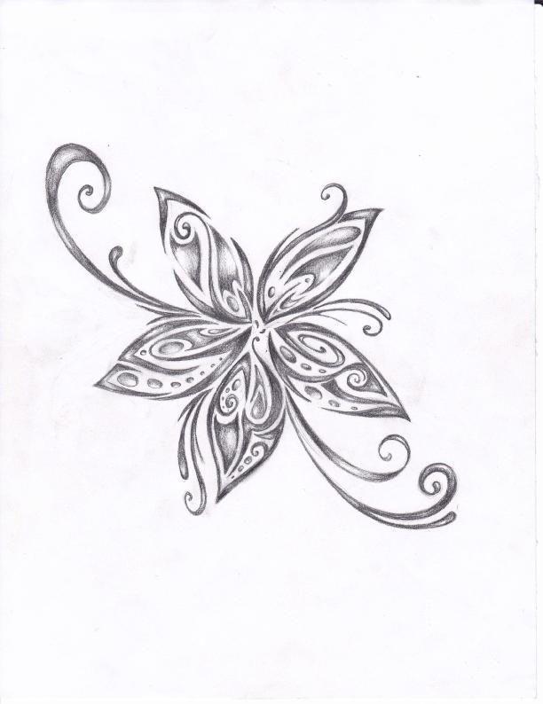 0fd491443 Tribal Flower Tattoos, Hawaiian Tribal Tattoos, Flower Tattoo Designs, Tattoo  Designs For Women