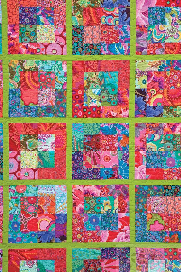 Bright & Bold Cozy Modern Quilts by Kim Schaefer.