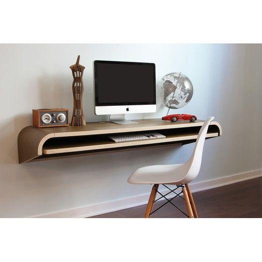 Minimal Floating Desk Home Office Furniture Floating Wall Desk