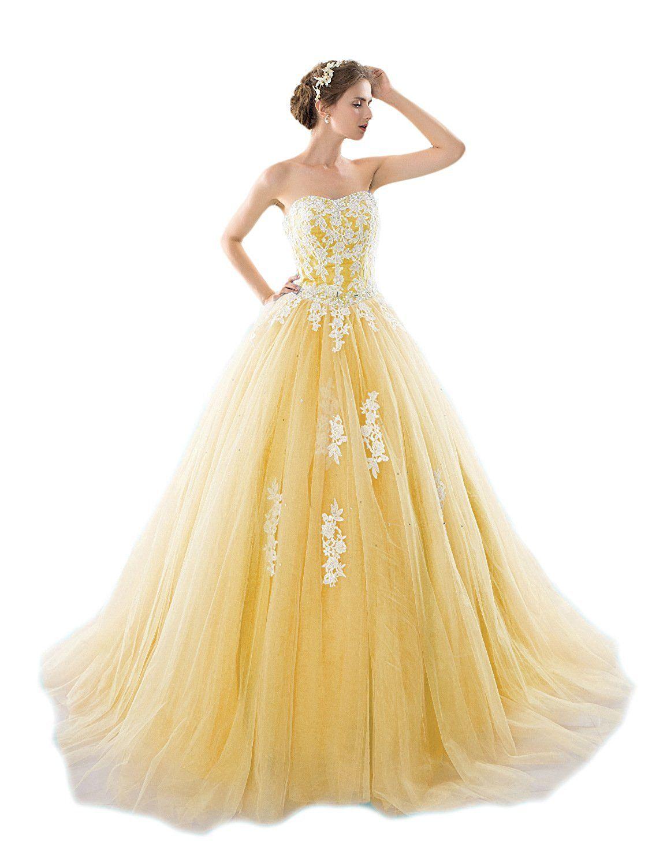 Favors dress womenus strapless lace prom dress long quinceanera