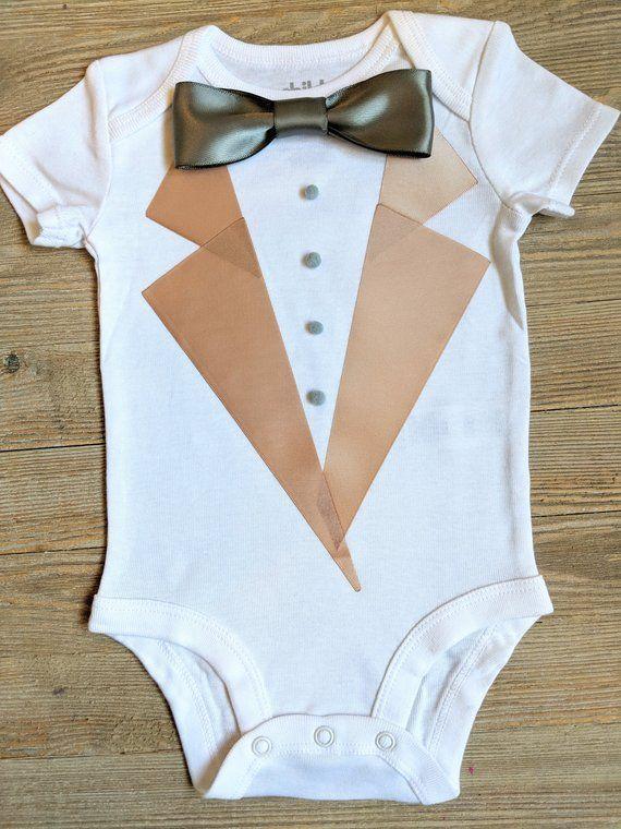 0b4713a39 Baby Wedding outfit - Baby Tuxedo Shirt - Tan Tuxedo - Baby Tuxedo - Photography  prop - baby tuxedo