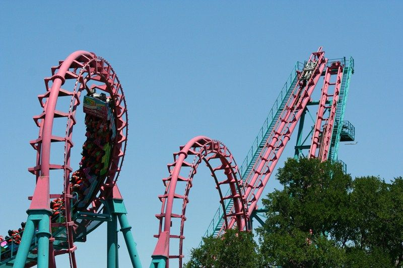 Rcrock Six Flags Over Texas Roller Coaster Six Flags