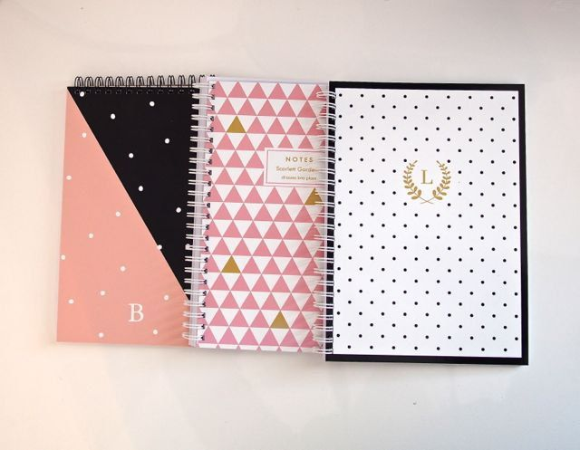 Personalized Note Pad  Diagonal Spots 5 x 8 by LetterLoveDesigns, $20.00