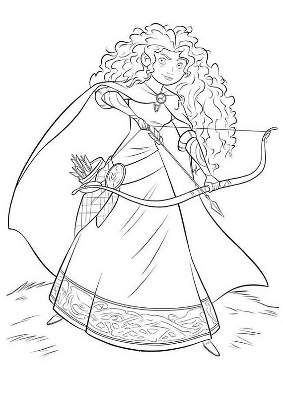 Sketched Coloring Pic Of Merida Free Online Printable Pages Sheets For Kids Get The Latest Images Favorite