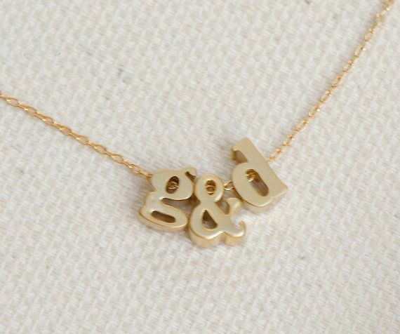three initial necklace gold personalized jewelry monogram necklace lowercase initial charm tiny