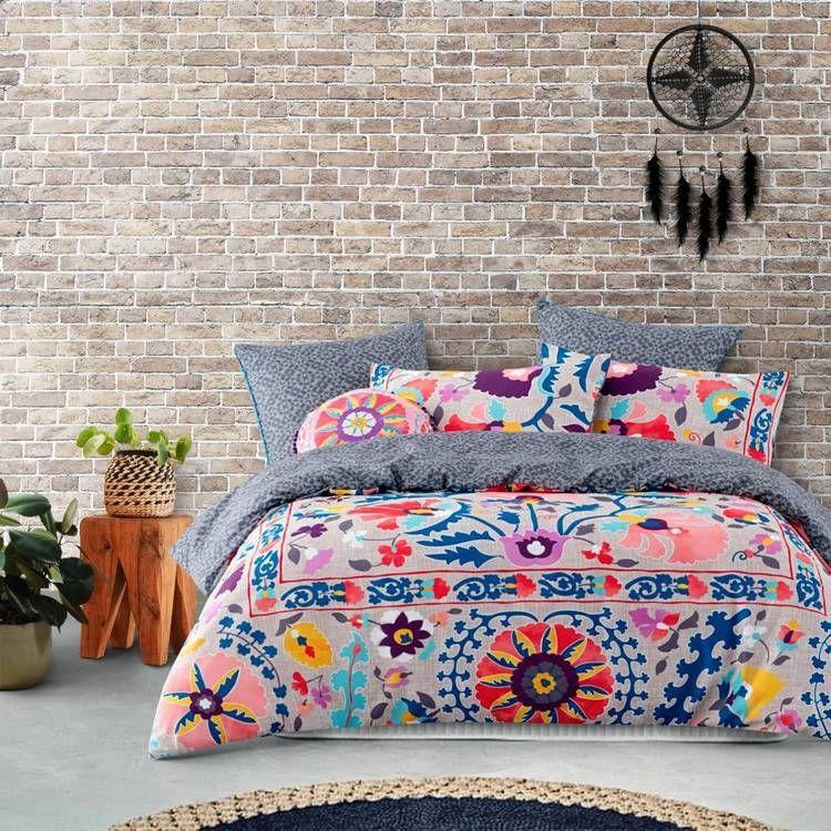 Belmondo Home Shiloh Quilt Cover Set Multicoloured Double Quilt Cover Sets Quilt Cover Single Size Bed