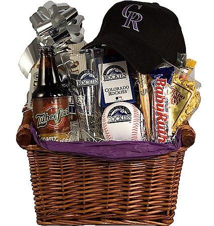 Diy Baseball Gift Basket You Could Do One For Hockey Football Etc