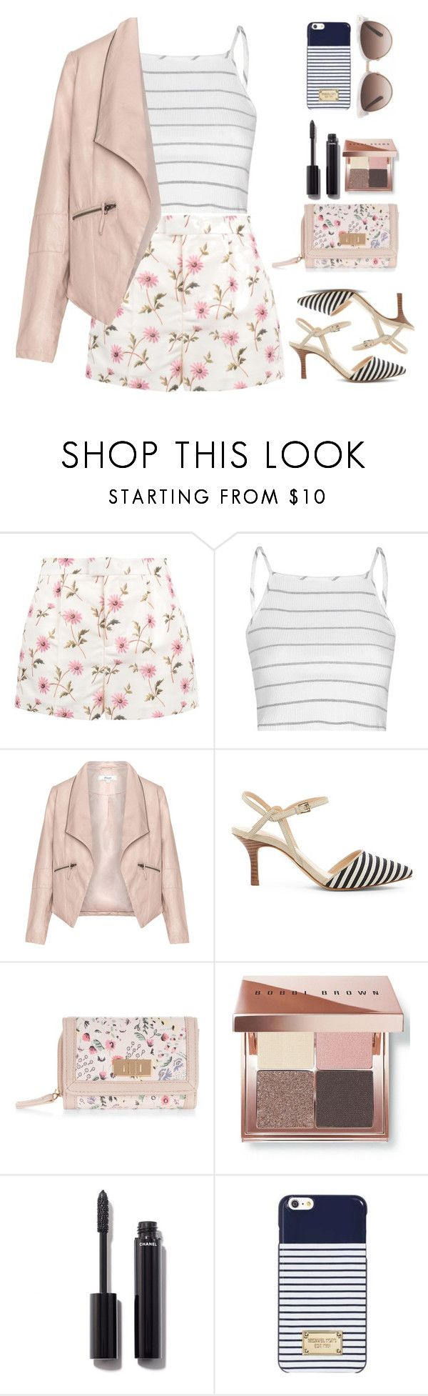 """""""Pattern Mix Master"""" by forevagorgeous ❤ liked on Polyvore featuring RED Valentino, Glamorous, Zizzi, Sole Society, New Look, Bobbi Brown Cosmetics, Chanel, Michael Kors, Gucci and patternmixing"""