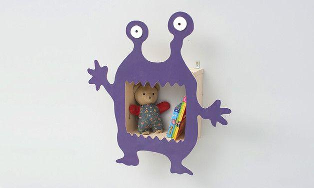 Regale - Monsterregal, Regal, Wandregal, Nachtkästchen - ein Designerstück von Werkstatt-Geppetto bei DaWanda