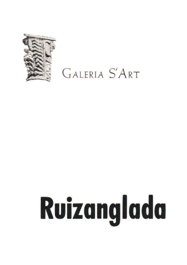 Ruizanglada Catalogo - 1977 Galeria S Art Huesca by Ruizanglada Pintura via slideshare