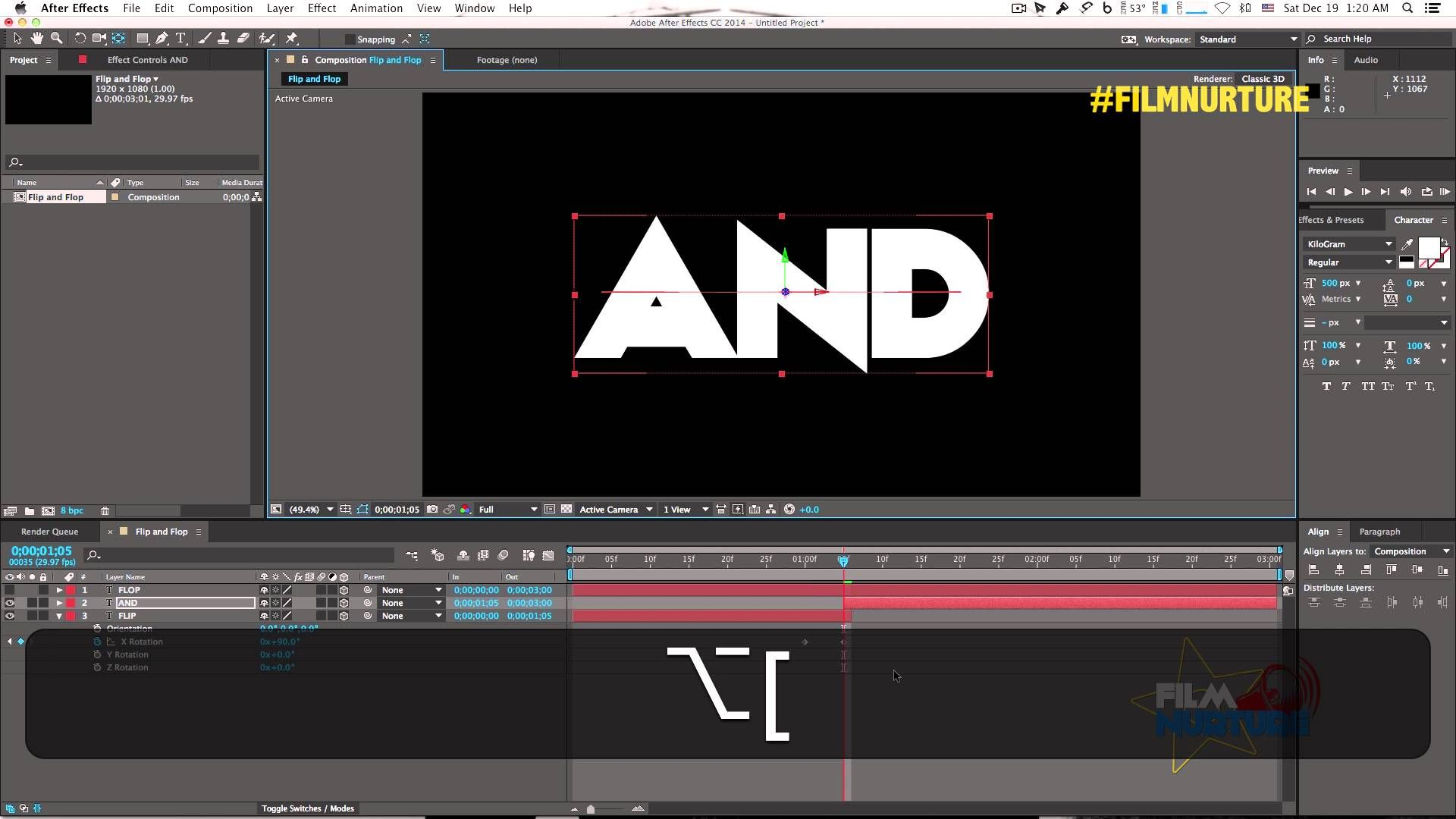 Flip And Flop Text Effect Tutorial In After Effects Text Effects