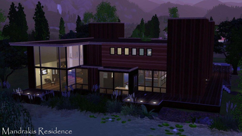 Sims version of mandrakis residence from when a stranger calls