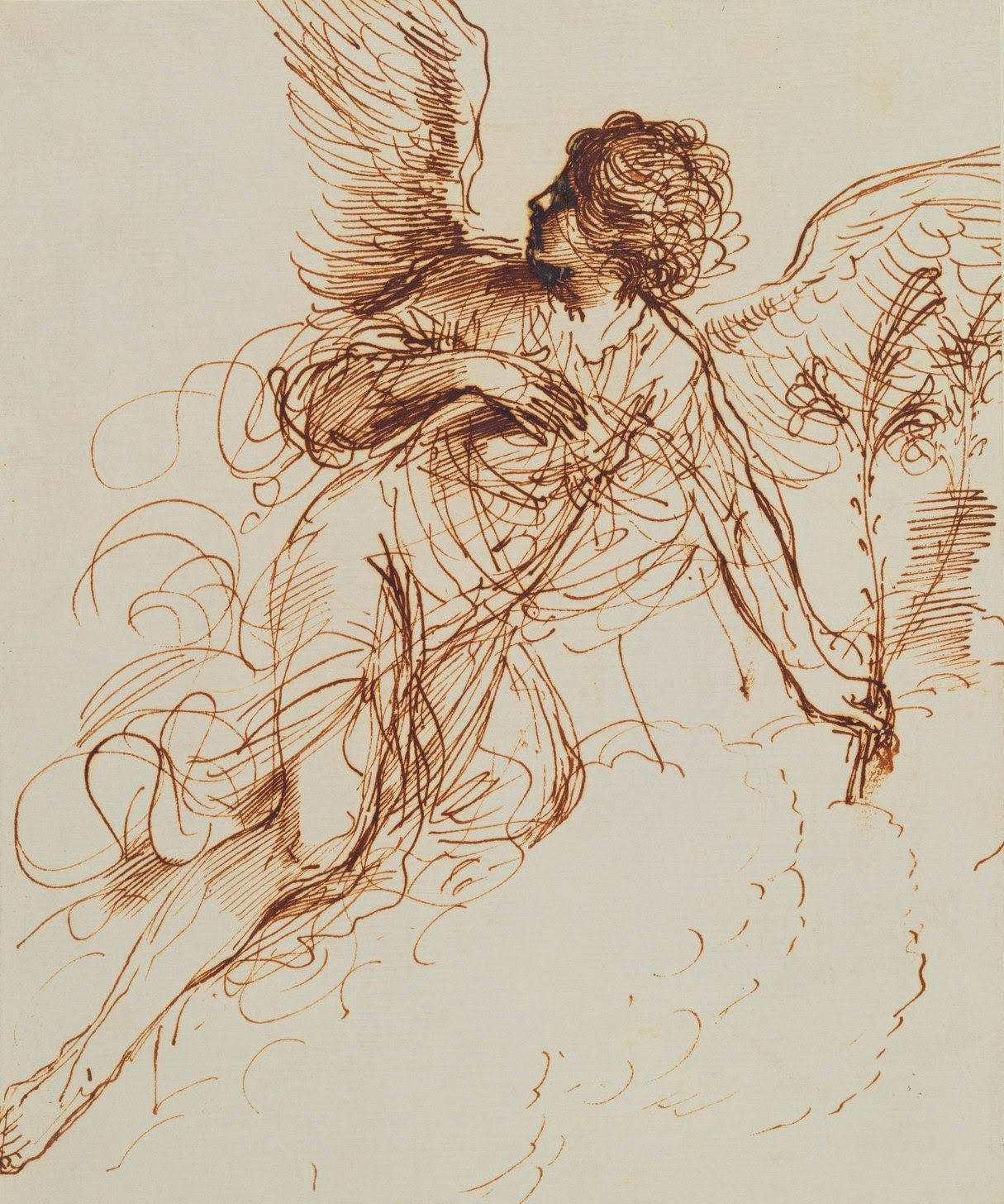 Dido Angel Goddess Of Love Beautiful guercino (giovanni francesco barbieri, 1591–1666), the angel of