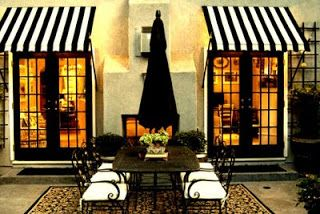Awnings Black French Doors Parisian Bistro House Exterior