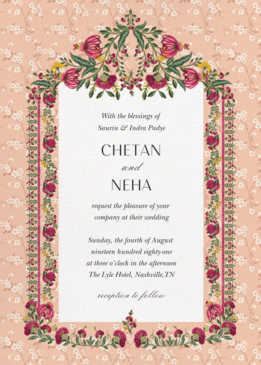 Anita Dongre x Paperless Post | Digital wedding invitations, Indian wedding  invitation cards, Wedding invitation card design