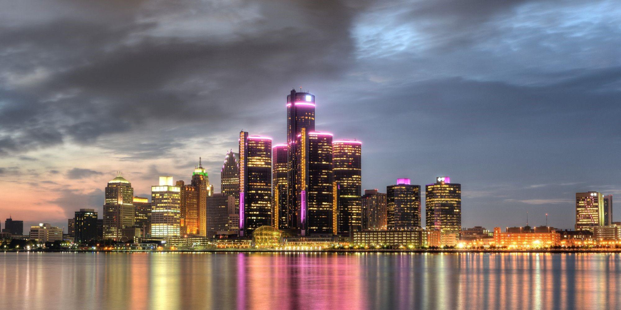 Detroit Pictures Detroit Skyline Detroit Detroit City