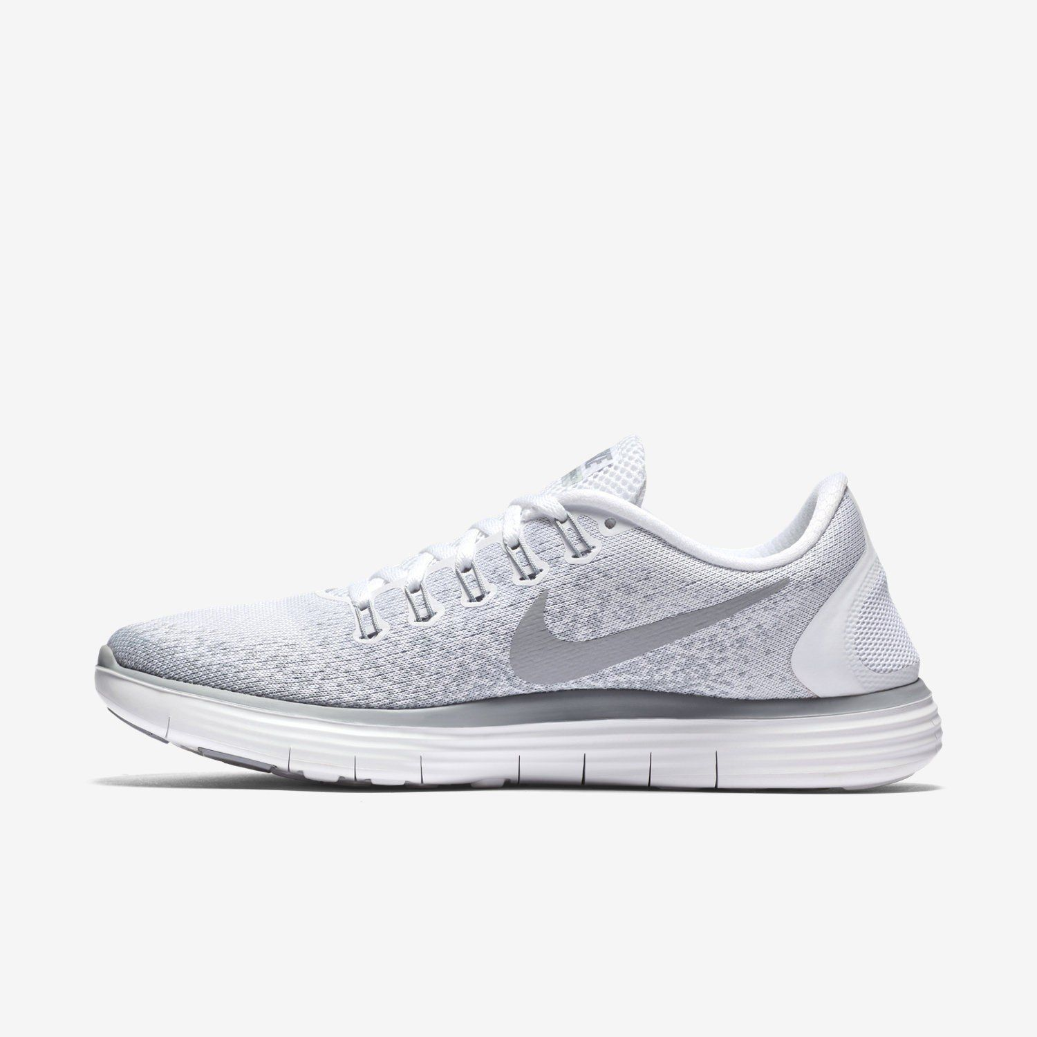 Nike Casual Breathable Mesh White Gray Silver Sneakers Women