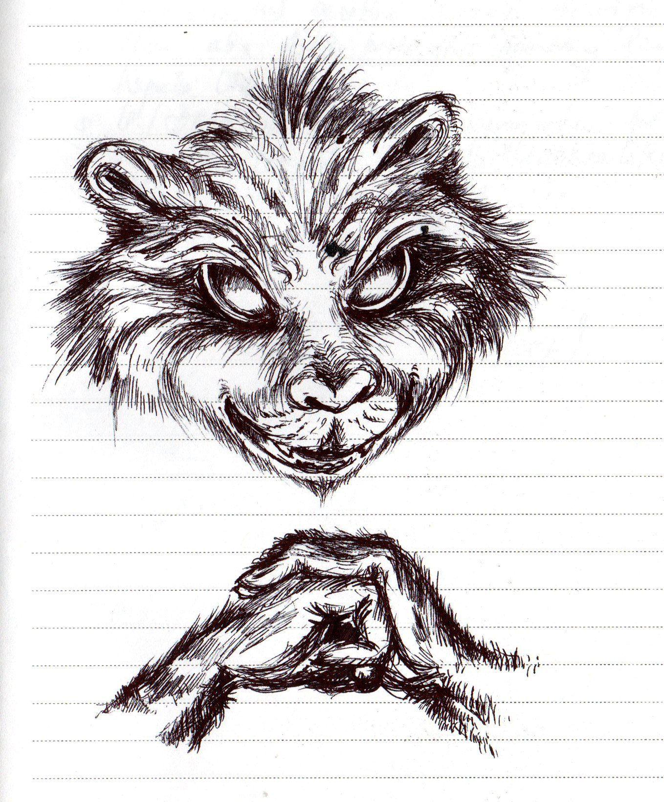 Spooky racoon racoon creatures unique sketches art croquis kunst
