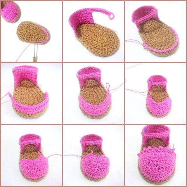Crochet Baby Espadrilles Free Pattern   Botines En Croché ...