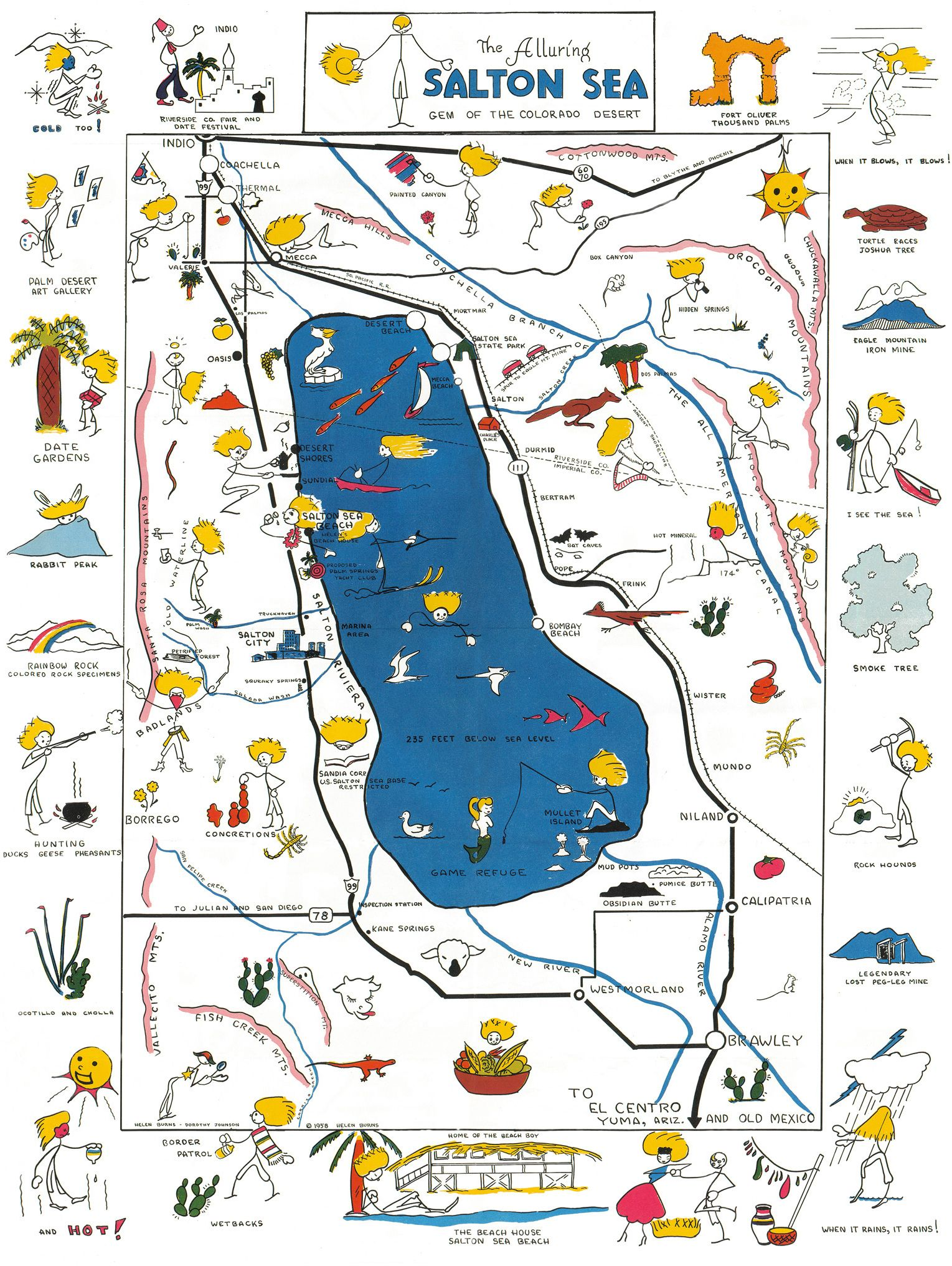 Salton Sea Map Conservation Pinterest Maps Salts And - Salton sea on us map
