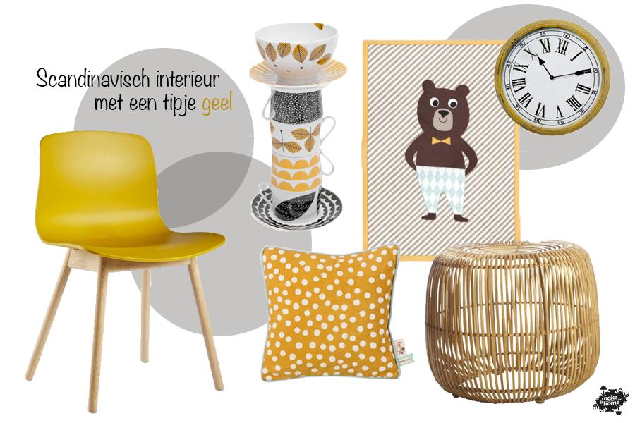 Scandinavisch interieur tipje geel woonkamer pinterest for Woonkamer intekenen