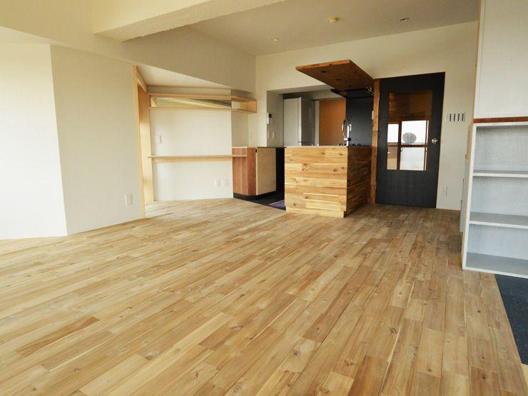 アカシアユニワイルドフローリング Acacia Flooring 住宅