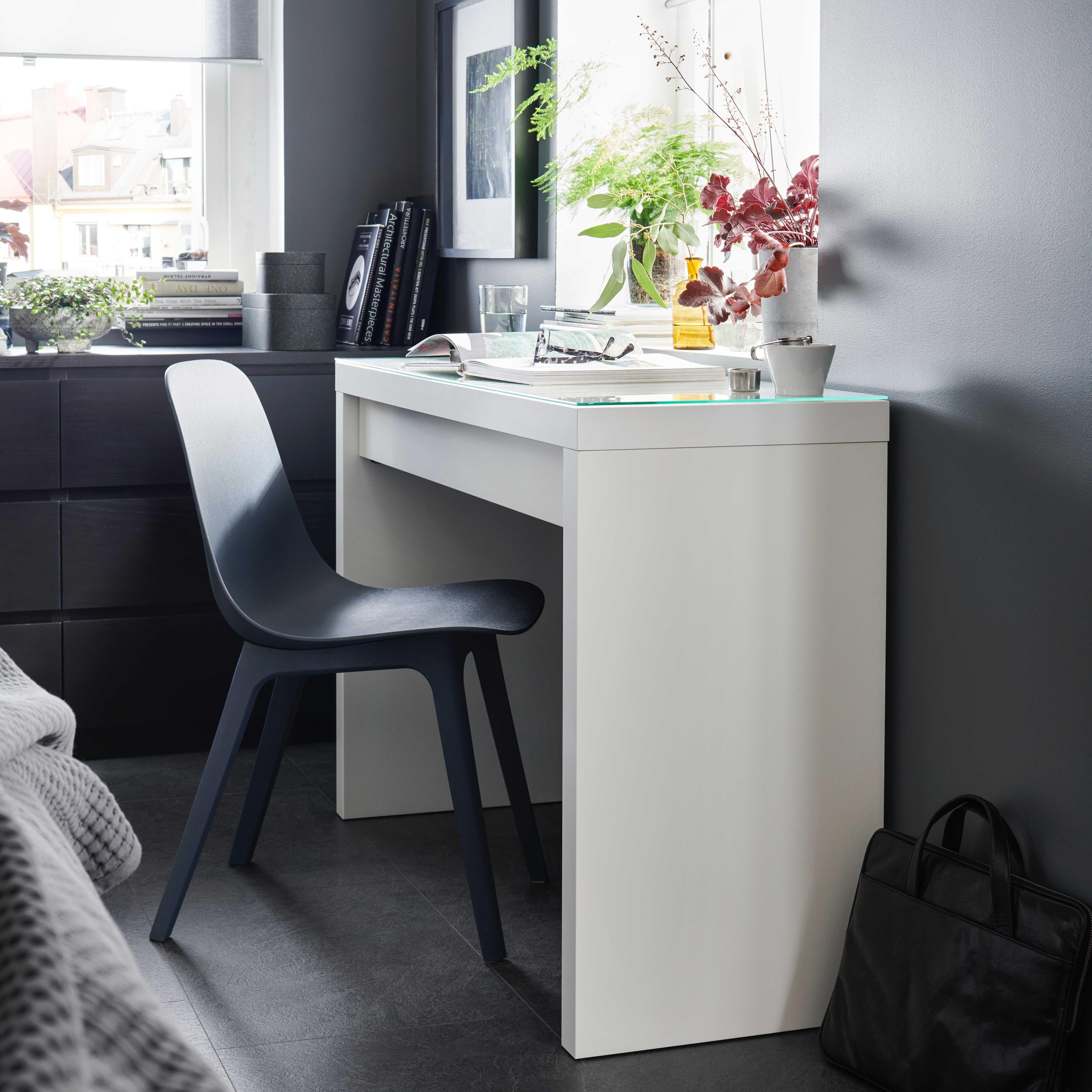 Malm Toilettafel Wit 120x41 Cm Ikea Malm Ikea Make Up Bureau
