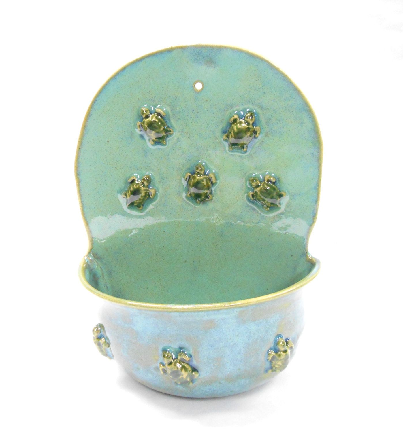 Pottery Wall Planter With Turtles Ceramic Planter Turtle 400 x 300