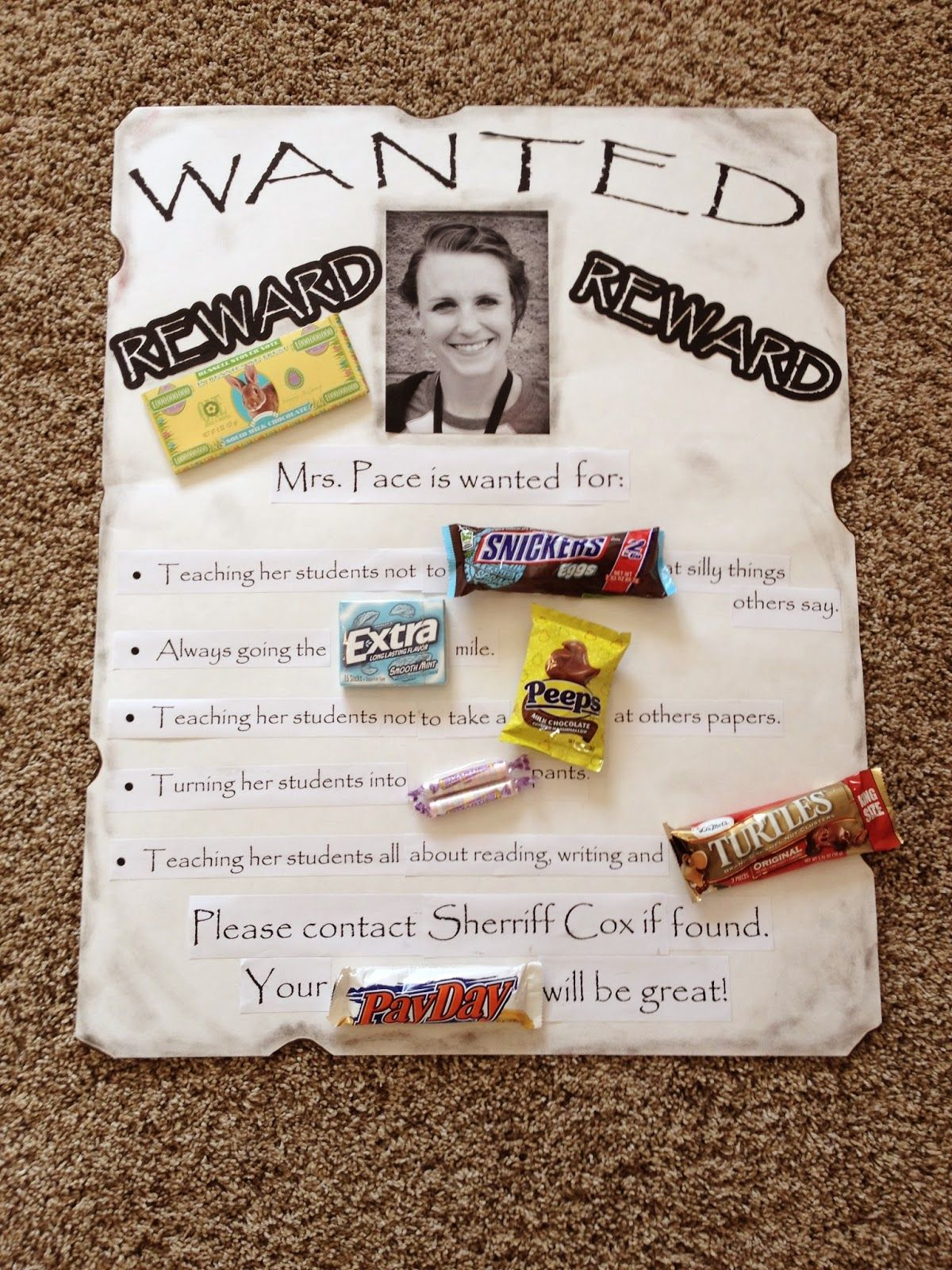Teacher Appreciation Week- candy poster   Silhouette Fun ...