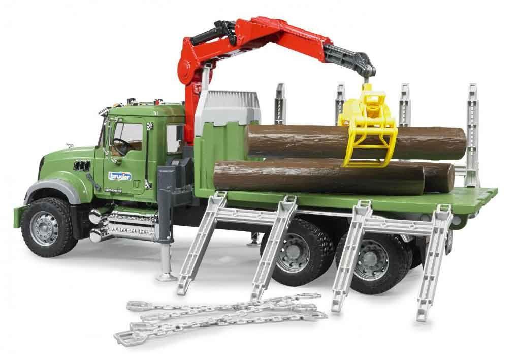 Bruder Toys Mack Granite Timber Truck Construction Vehicles Trucks Timber