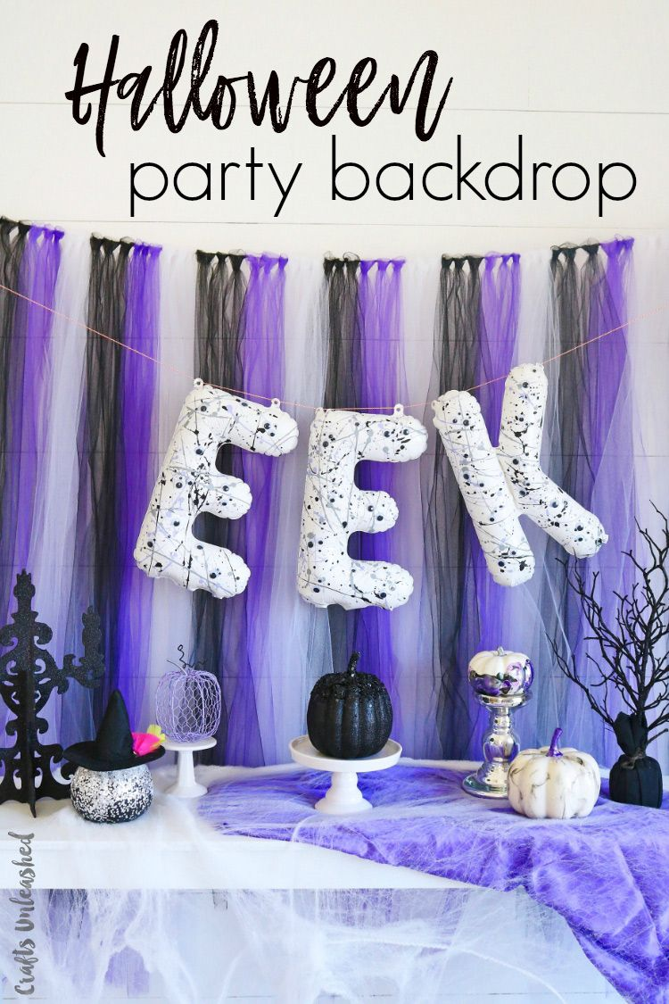 DIY Halloween Party Decorations Backdrop Idea - Consumer Crafts - Halloween Party Decoration Ideas Adults