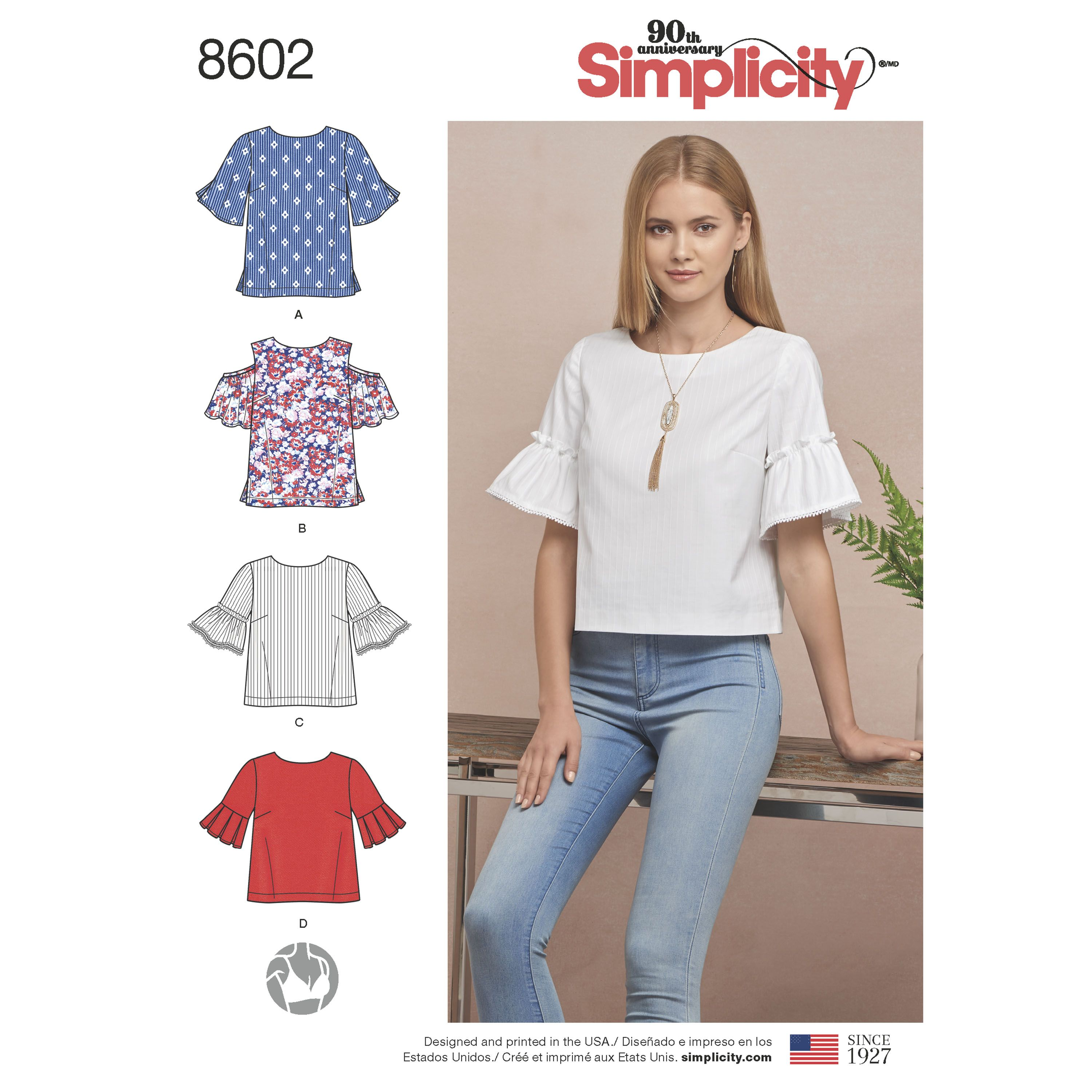 Simplicity 8602 Misses\' Tops in Two Lengths | Costura | Pinterest ...