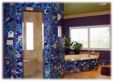 Large Decorative Ceramic Tiles Tropical Fish Ceramic Tile Bathroom  Bathroom Mosaic  Pinterest