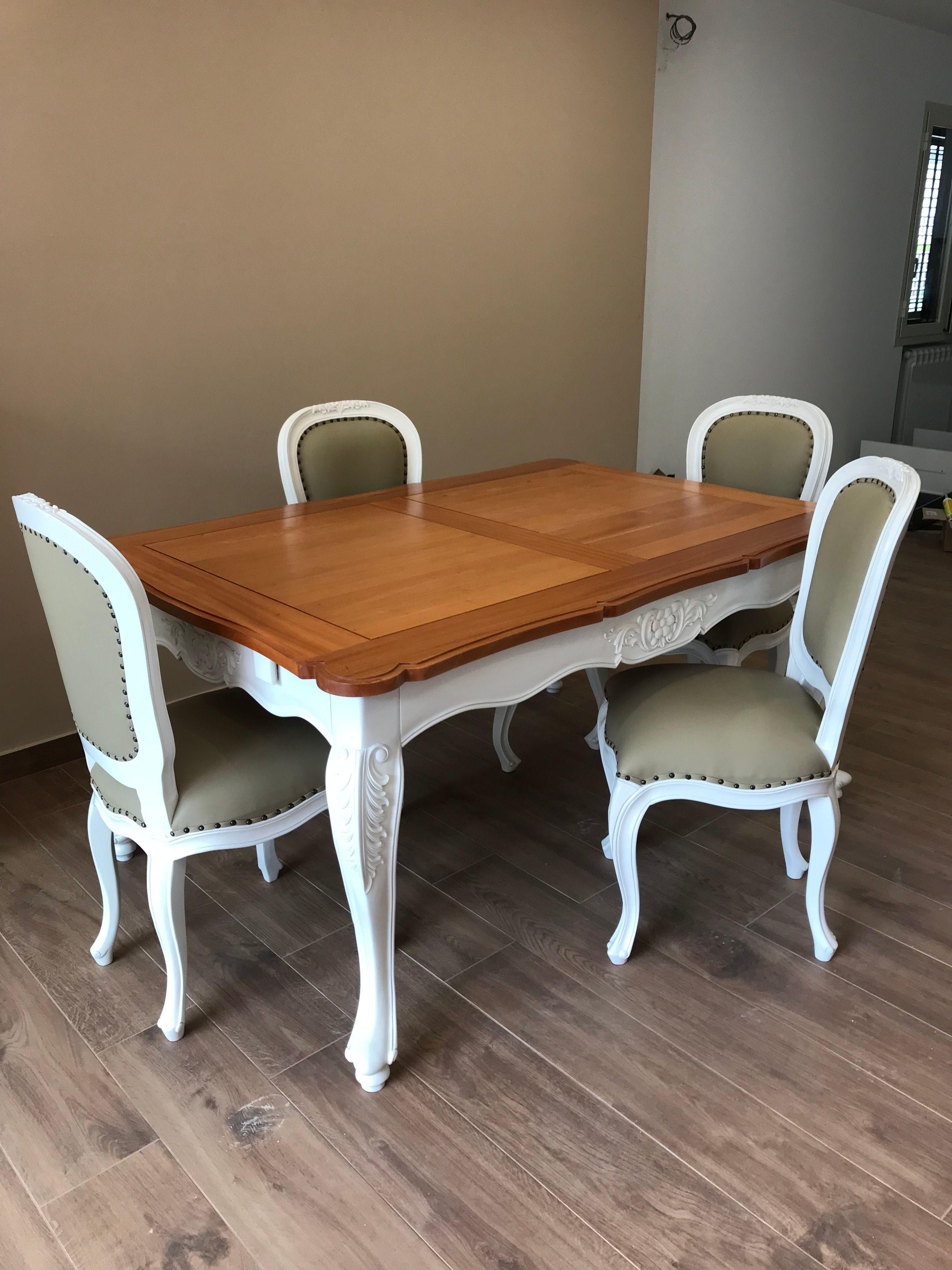 Tavolo provenzale chic legno e ferro. Tavolo E Sedie Stile Provenzale Tavolo E Sedie Arredamento Legno