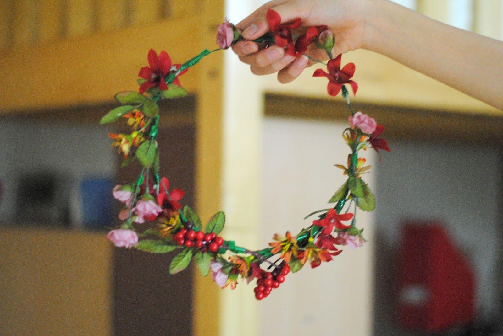 Art In Our Blood Diy Flower Headdress Tutorial Renaissance Fair