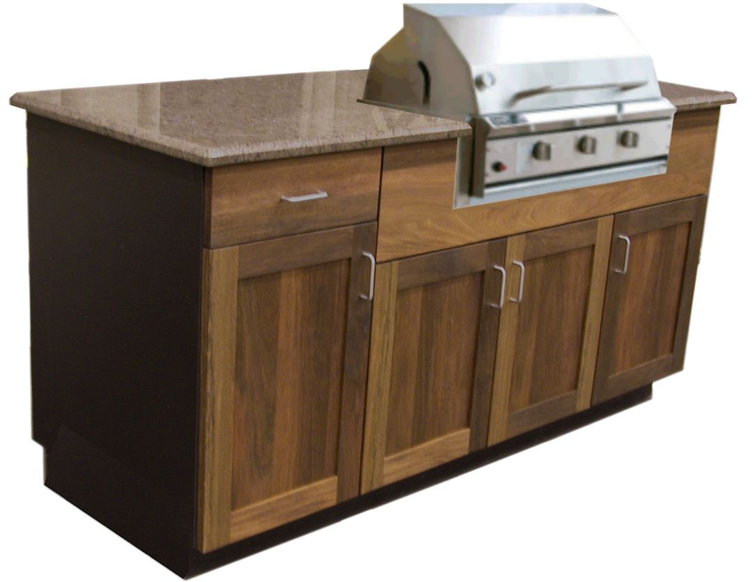Outdoor Grill Idea In Teak Outdoor Kitchen Cabinets Outdoor Cabinet Patio Cabinet