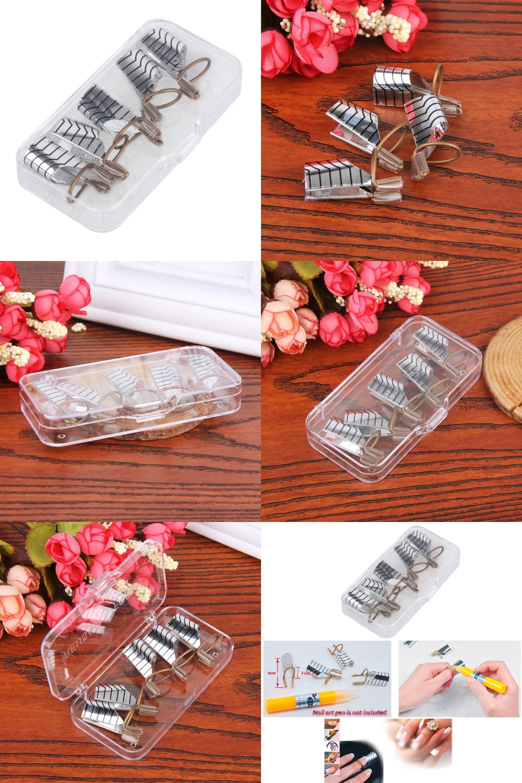 Visit to Buy] 5pcs Reusable Nail Forms UV Gel Nail Polish nails ...